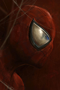 320x480 Spiderman Art Closeup