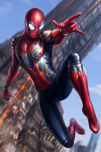Spiderman Avengers Infinity War Art