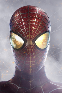 320x568 Spiderman Closeup Digital Art
