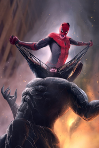 360x640 Spiderman Defeating Venom