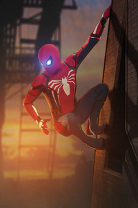 750x1334 Spiderman In The City Art