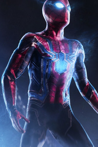 640x1136 Spiderman Infinity War 4k Art