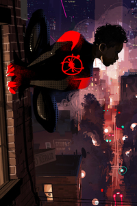 320x480 SpiderMan Into The Spider Verse 10k