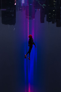 320x568 SpiderMan Into The Spider Verse Movie 2018 Art