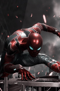 1440x2960 Spiderman Iron Suit Ps4