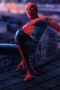 1280x2120 Spiderman On The Wall 5k