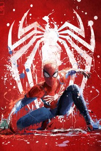 640x960 Spiderman Ps4 Art 2018