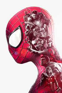Spiderman Superheroes Double Exposure
