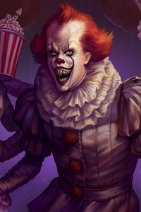 480x854 Spiderwise Pennywise Artwork 4k