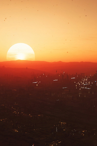 640x1136 Star Citizen Sunset In Hurston Planet