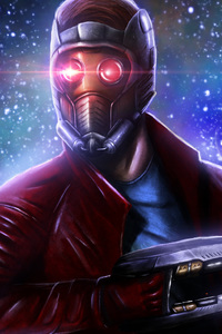 720x1280 Star Lord 5k Art