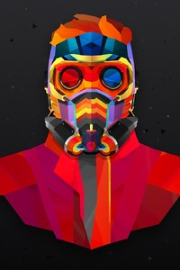Star Lord Colorful Abstract