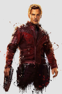 480x854 Star Lord In Avengers Infinity War 4k Artwork