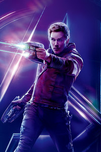 480x854 Star Lord In Avengers Infinity War 8k Poster