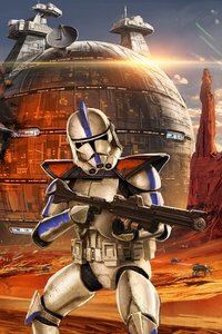 Star Wars Artwork Geonosis Clone Trooper