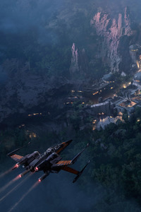 Star Wars Land At Night Concept Art 5k