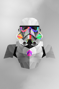 2160x3840 Stormtrooper Abstract Art