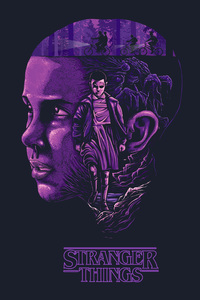 750x1334 Stranger Things Eleven 4k Artwork