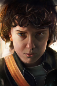 540x960 Stranger Things Eleven HD Artwork