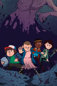 750x1334 Stranger Things Illustration