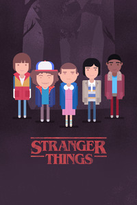 Stranger Things Minimalism 4k