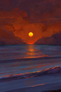 640x960 Sunset Digital Art