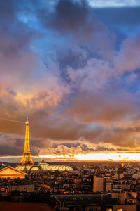 240x400 Sunset Over Paris