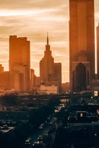 2160x3840 Sunset View Buildings City 4k