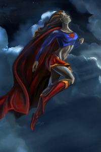 320x480 Supergirl In The Air