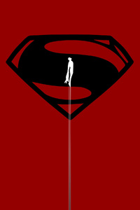 320x568 Superman 4k Art