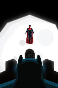 480x854 Superman And Batman Art