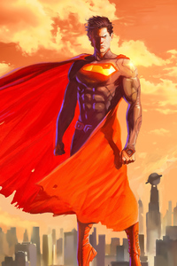 320x480 Superman Artwork 2018