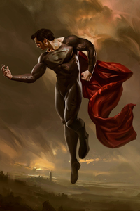 240x320 Superman Artwork Fan Made