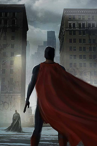1125x2436 Superman Cape Flying