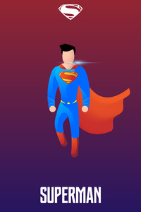 320x480 Superman Illustration 4k