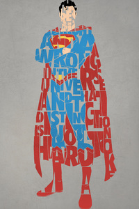 1440x2560 Superman Typography 4k