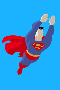 2160x3840 Superman Vector Style