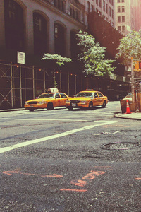 2160x3840 Taxi Cab New York City Street Vehicles