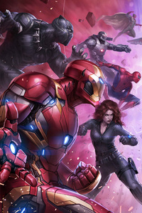 Team Iron Man And Team Captain America