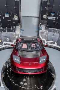 Tesla Roadster Into Falcon Heavy