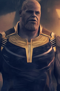 320x480 Thanos Avengers Infinity War 2018 4k Artwork