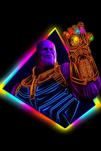 640x1136 Thanos Avengers Infinity War 80S Style Artwork