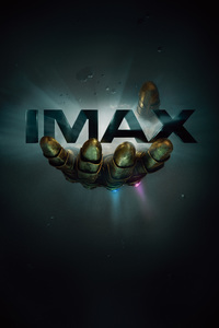 480x800 Thanos Infinity Gauntlet IMAX Poster 12k