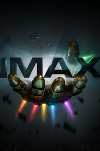 720x1280 Thanos Infinity Gauntlet IMAX Poster