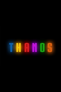 Thanos Logo Artwork