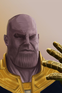640x1136 Thanos With Gauntlet Artwork