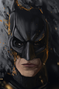 1080x2160 The Dark Knight New Artwork
