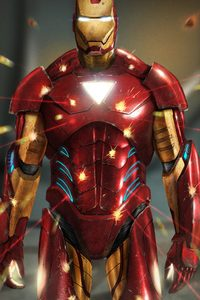 640x960 The Invincible Iron Man Art