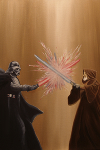 The Last Battle Darth Vader Obi Wan Star Wars