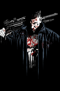 1080x1920 The Punisher Digital Art